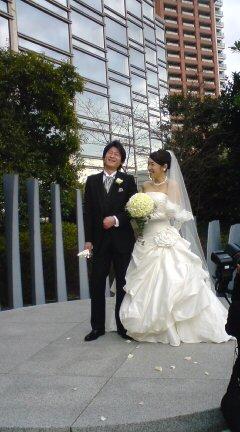 アナウンサー友達の結婚式に…
